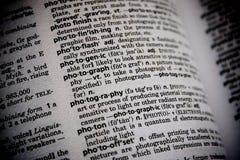 Fotografia di parola del dizionario immagine stock