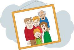Fotografia di risata della famiglia Immagini Stock