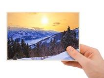 Fotografia di tramonto delle montagne (Austria) a disposizione Fotografia Stock Libera da Diritti
