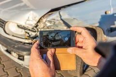 Fotografia di un'automobile nociva fotografia stock