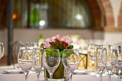 Fotografia di una tavola per la celebrazione dei banchetti Fotografia Stock