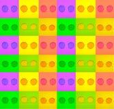 Fotografia di vari vetri alla moda del giro luminoso nei telai quadrati verdi, gialli, porpora immagine stock