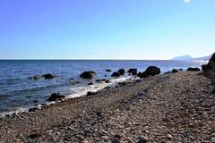 Fotografia dla projekta i tła, seashore, skalisty brzeg obraz royalty free