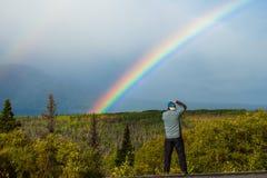 Fotografia do arco-íris imagens de stock