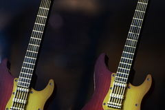Fotografia do estoque do fundo das guitarra Imagens de Stock Royalty Free
