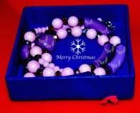 Fotografia do fundo da caixa de presente do Natal Fotografia de Stock