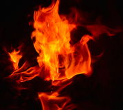 Fotografia do fundo do fogo Foto de Stock Royalty Free