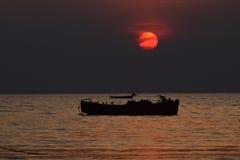 Fotografia do fundo do por do sol Imagens de Stock