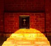 Fotografia do fundo do quadro de mensagens do registro do cemitério Foto de Stock