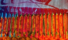 Fotografia do fundo do xaile de Pashmina Imagem de Stock