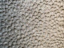 Fotografia do fundo do metal derretido na prata Imagens de Stock