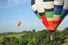 Fotografia dos balões e da paisagem Fotografia de Stock