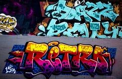 Fotografia dos grafittis Foto de Stock