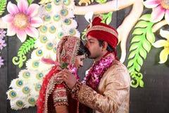 Fotografia dos pares do casamento Fotografia de Stock Royalty Free