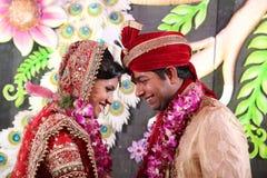 Fotografia dos pares do casamento Foto de Stock