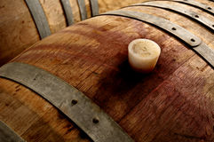 Fotografia dziejowy wino baryłek gumy korek Zdjęcie Royalty Free