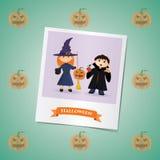 Fotografia dziewczyna i chłopiec na Halloween Obrazy Royalty Free