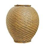 Vaso tessuto bambù tailandese di stile Immagine Stock Libera da Diritti