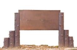 Segno di legno di stile del parco Immagini Stock Libere da Diritti