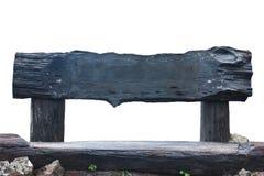 Segno di legno del ceppo Fotografia Stock