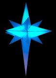 Luce operata dell'ornamento nella forma di cristallo Fotografie Stock Libere da Diritti