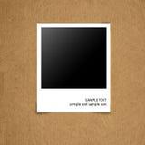 Fotografia em branco na placa de papel do grunge Imagem de Stock Royalty Free