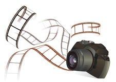 Fotografia film i kamera ilustracja wektor