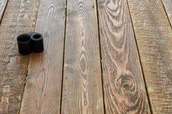 Fotografia film na drewno stole Zdjęcie Stock