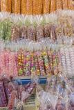 Fotografia frontowego przekąska sklepu rocznika Tajlandzki cukierki i deser Zdjęcia Stock