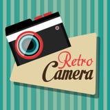 Fotografia i kamera rocznika projekt ilustracji