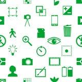 Fotografia i kamera tematu prostych ikon bezszwowy wzór eps10 Obrazy Stock