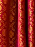 Fotografia impressa tradicional do fundo do saree Imagem de Stock