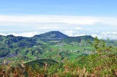 Fotografia Indonesia della montagna Fotografie Stock Libere da Diritti