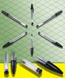 FOTOGRAFIA ISOMETRICA di una penna di Ballpoint   Fotografie Stock