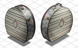Fotografia isométrica - mala de viagem o do vintage Imagem de Stock Royalty Free