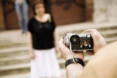 Fotografia istantanea turistica Immagine Stock Libera da Diritti