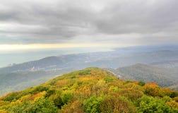 Fotografia jesienni widoki od above z morzem Obraz Royalty Free