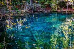 Fotografia jezioro w Południowym Finlandia Obraz Royalty Free