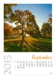 Fotografia kalendarz z minimalisty krajobrazem 2015 Zdjęcie Royalty Free