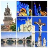 Fotografia kolaż Avignon - południe Francja zdjęcia stock
