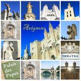 Fotografia kolaż Avignon - południe Francja zdjęcie stock
