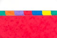Fotografia kolorowi skoroszytowi dividers z kopii przestrzenią Fotografia Royalty Free