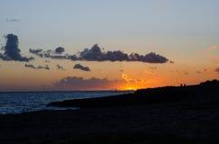 Fotografia krajobrazowy półmrok w Menorca Zmierzch obrazy stock