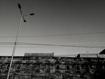Fotografia laterale della strada Immagini Stock Libere da Diritti