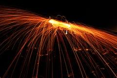 Fotografia longa de palhas de aço do xposure Foto de Stock Royalty Free