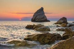 Fotografia losów angeles Vela wyrzucać na brzeg, Monte Conero Marche, Włochy, - Zdjęcie Royalty Free