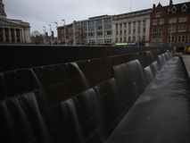 Fotografia lunga di esposizione della città di Nottingham fotografia stock