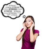 Fotografia młoda kobieta ma stres. Obraz Royalty Free
