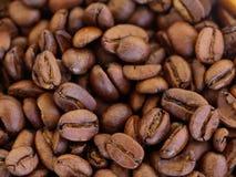 Fotografia macro de feijões de café roasted múltiplo foto de stock