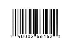 Fotografia macro de um código de barra Imagem de Stock Royalty Free